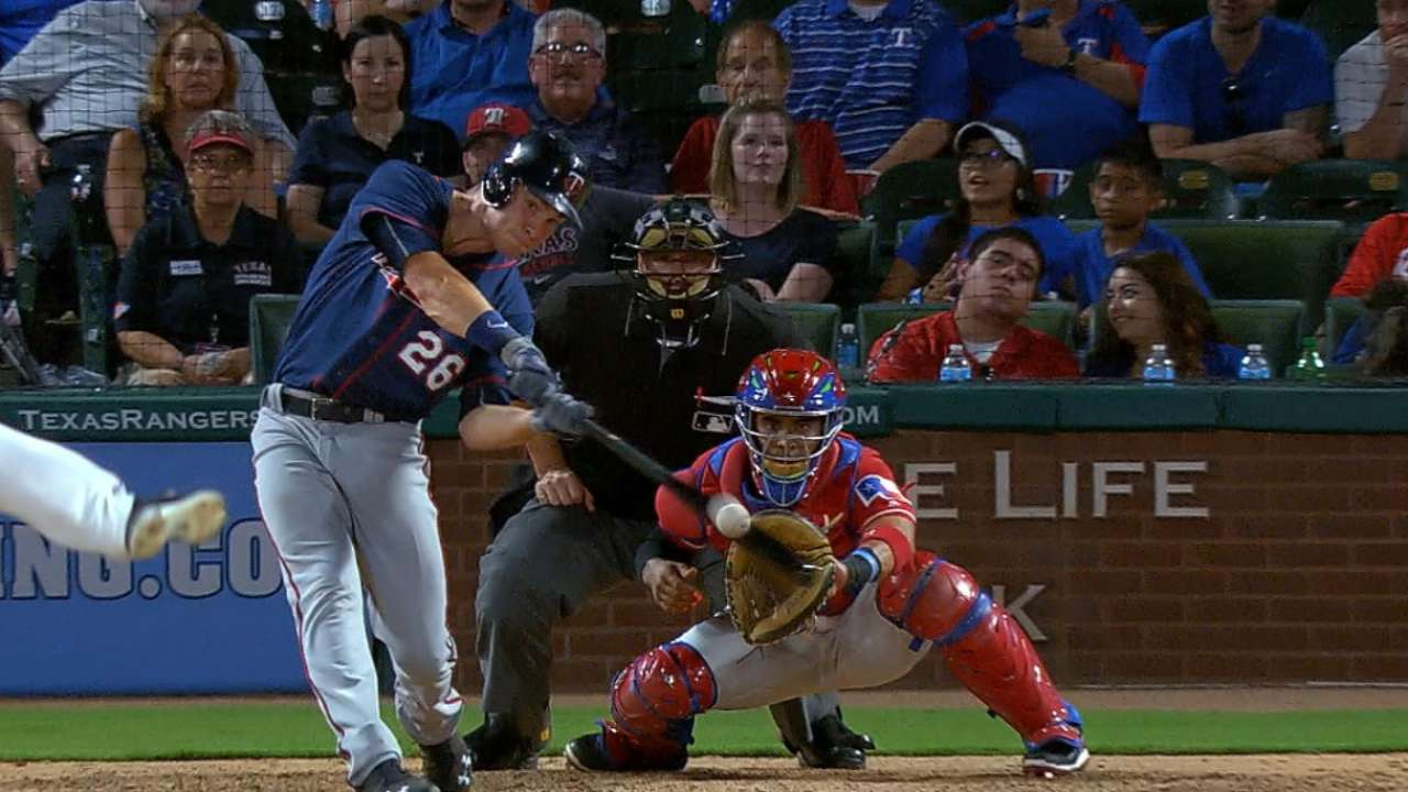 Twins pounce, finish with flourish in Texas