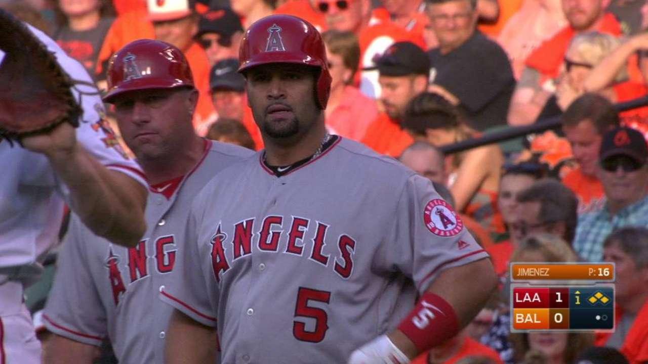 Jimenez's woes continue vs. Angels