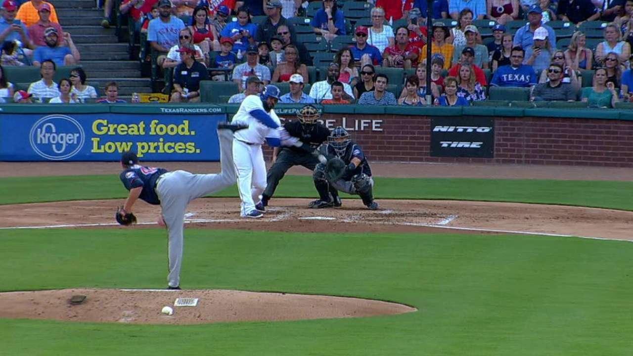 Odor, bullpen save Rangers vs. Twins