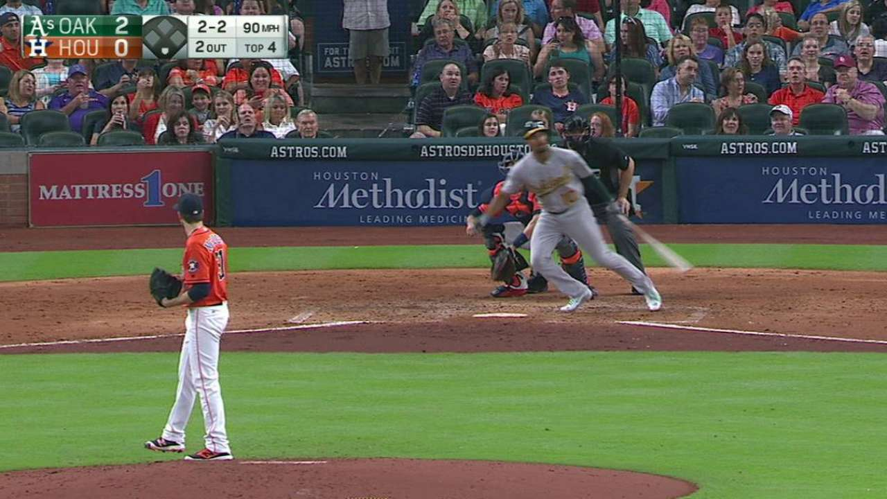 Semien's solo homer in the 4th