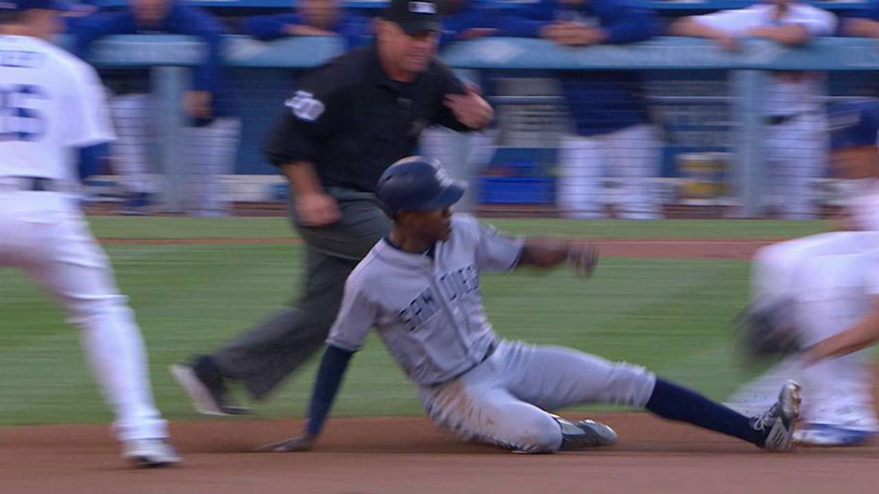 Upton Jr. steals second