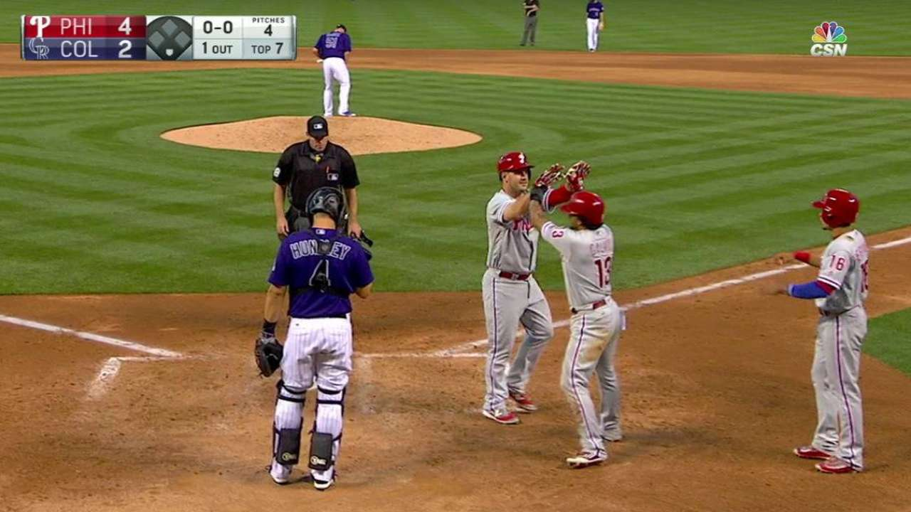 Joseph's homer gives Phils late lift vs. Rockies