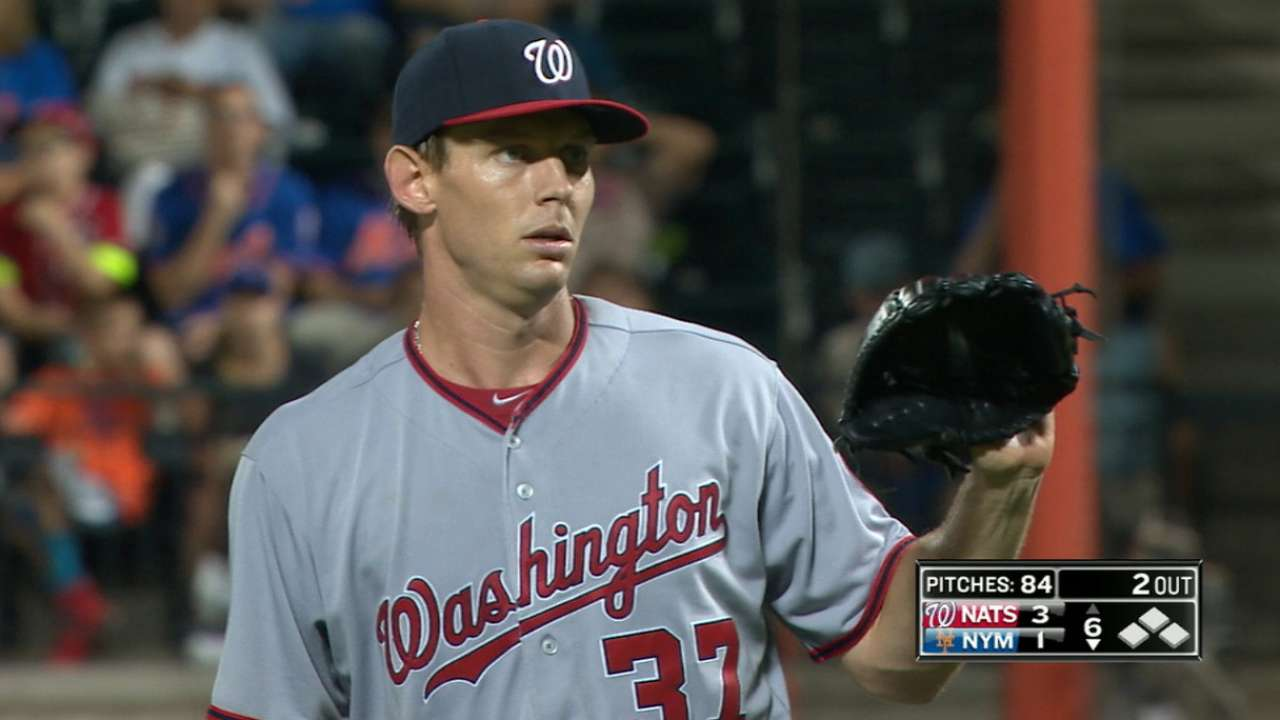 Strasburg earns his 12th win