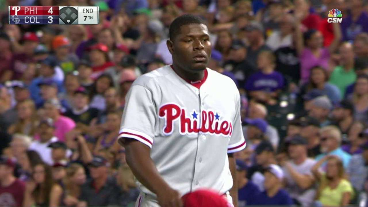 Neris gets out of a jam