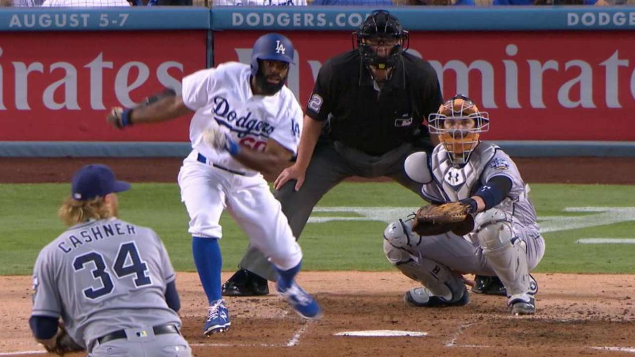 Toles bringing energy to Dodgers since callup