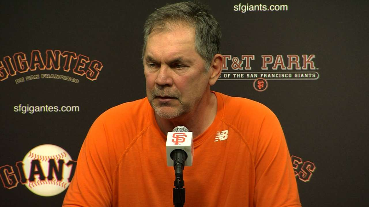 Bochy on Giants' win, ejection