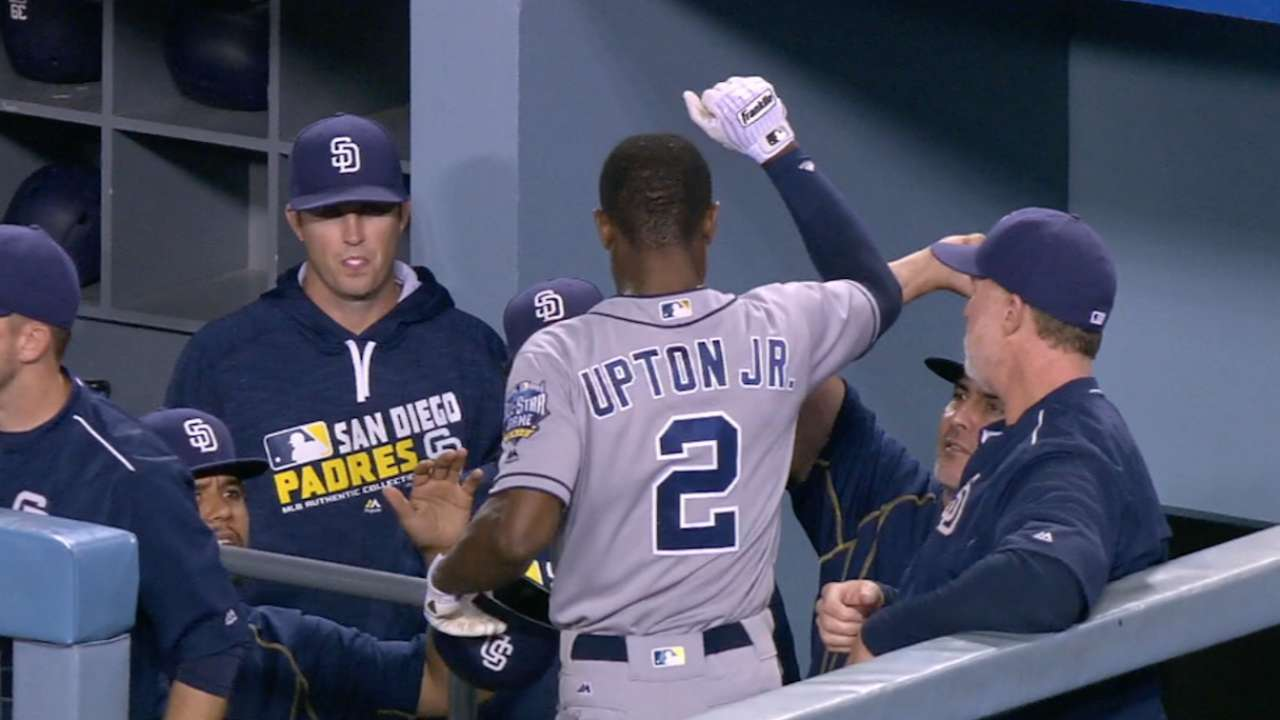 Upton Jr.'s four-hit game