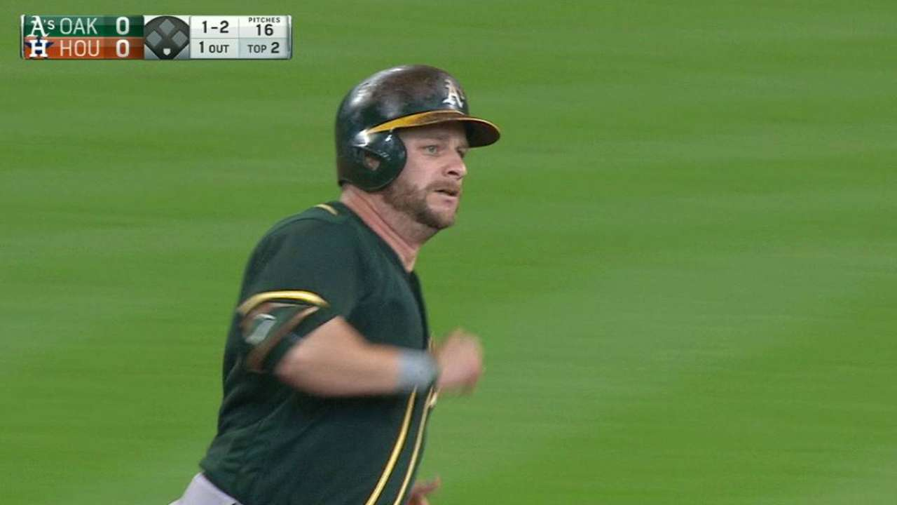 Vogt, Graveman nearly go distance in A's win