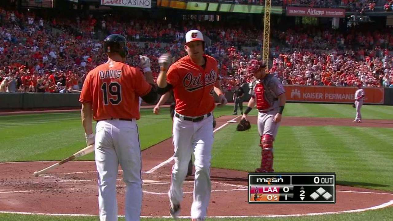 Trumbo's solo home run
