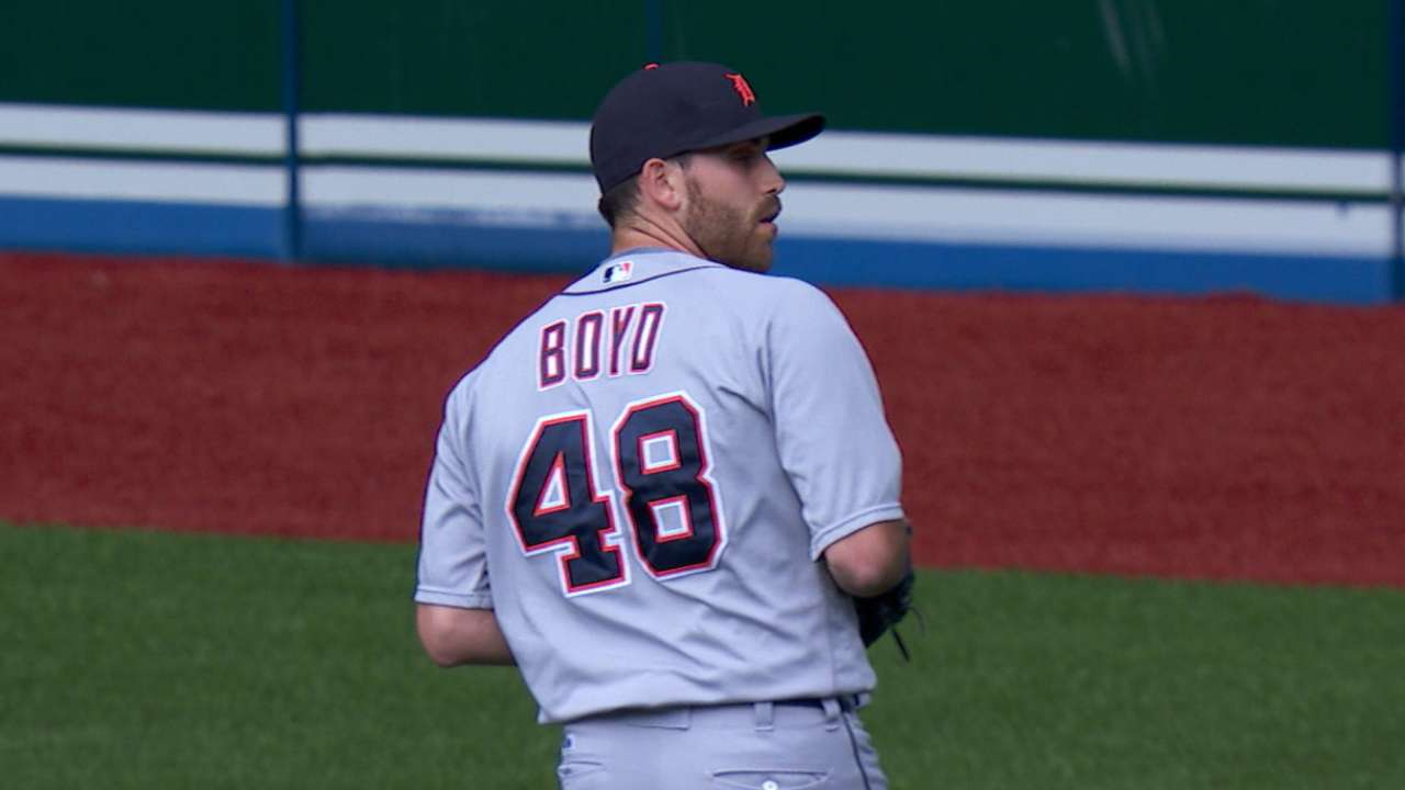 Boyd baffles former team with offspeed pitches