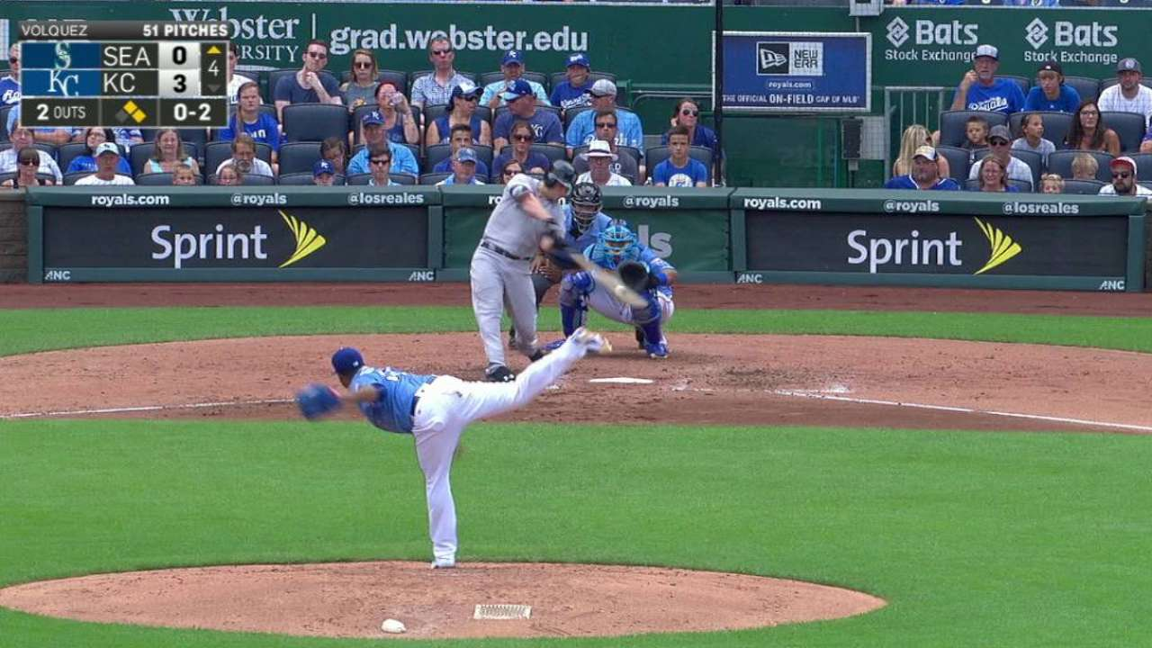 Seager's three-run home run