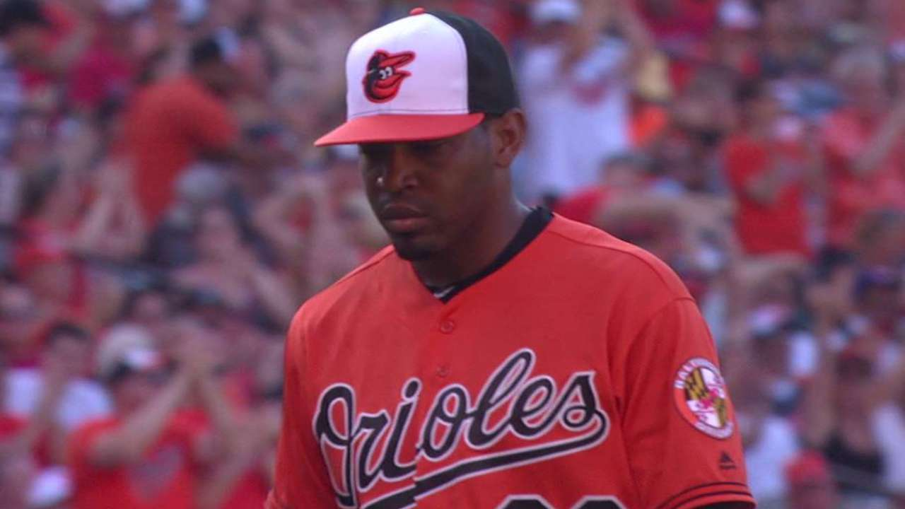 Givens provides big boost to O's 'pen in win