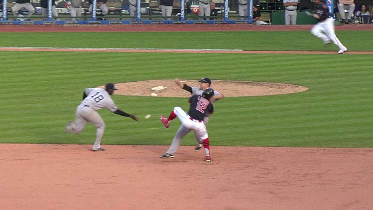 Tribe rally fizzles after critical interference call