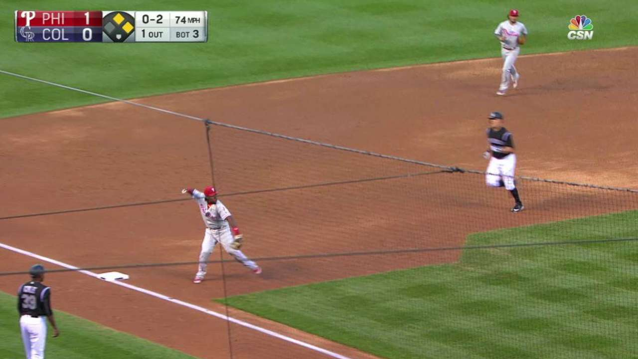 Eickhoff induces a double play