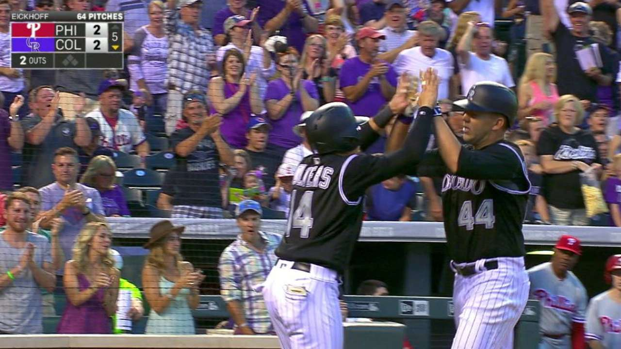 Anderson's first career home run