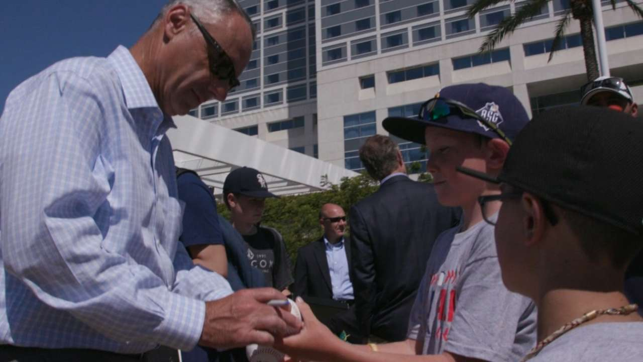 Manfred introduces All-Star legacy projects