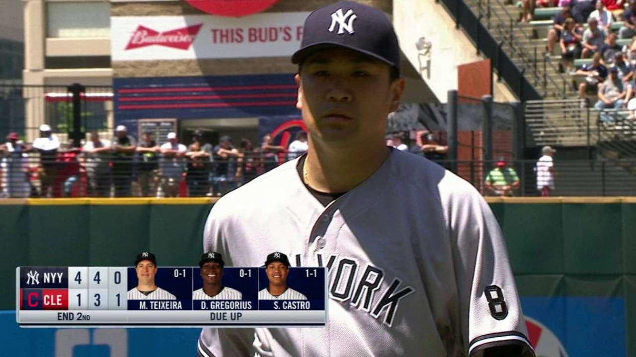 Tanaka escapes bases-loaded jam