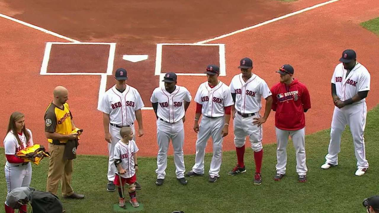 Red Sox All-Stars honored