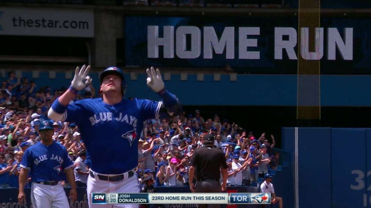 Donaldson, Dickey lead Blue Jays past Tigers
