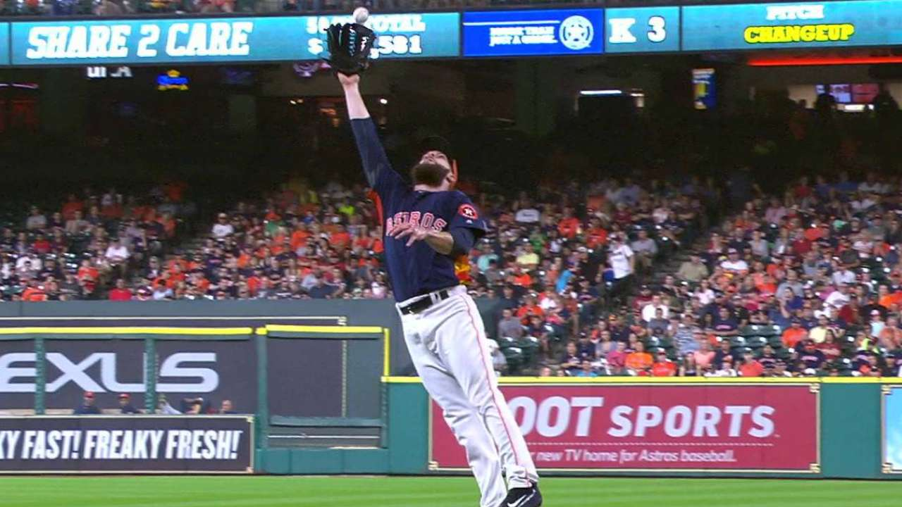 Keuchel rises, collects chopper