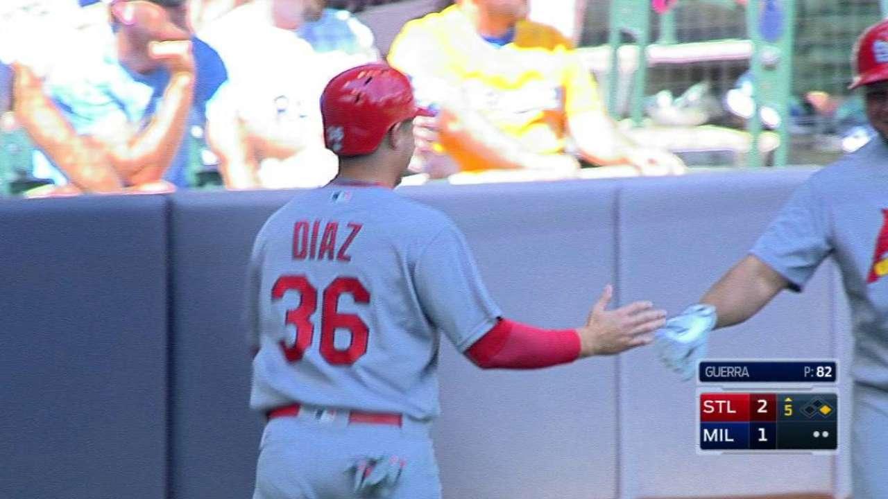 Diaz hustles, scores on a single