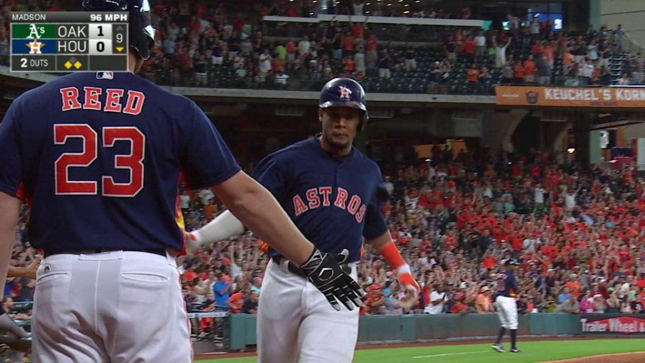 Gattis' game-tying RBI double