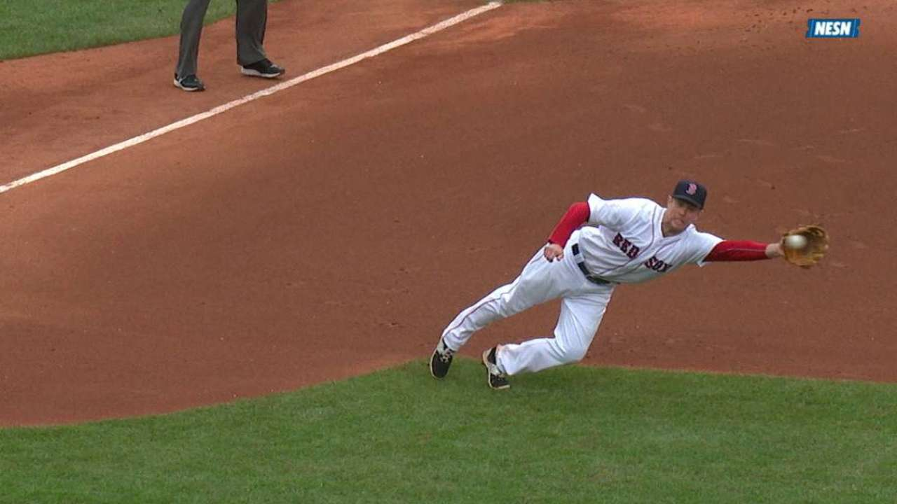 Hill's diving catch