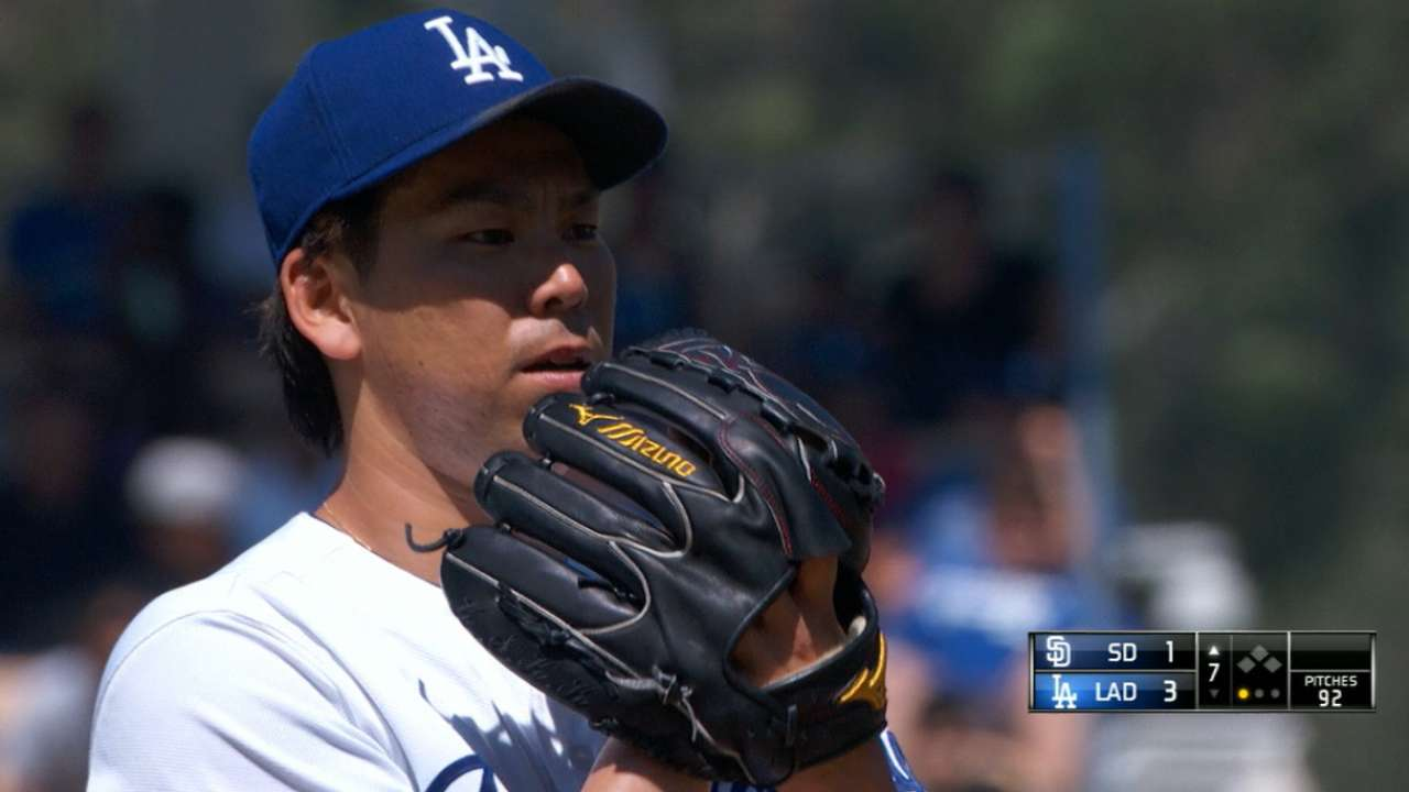 Outstanding outing from Maeda saves bullpen