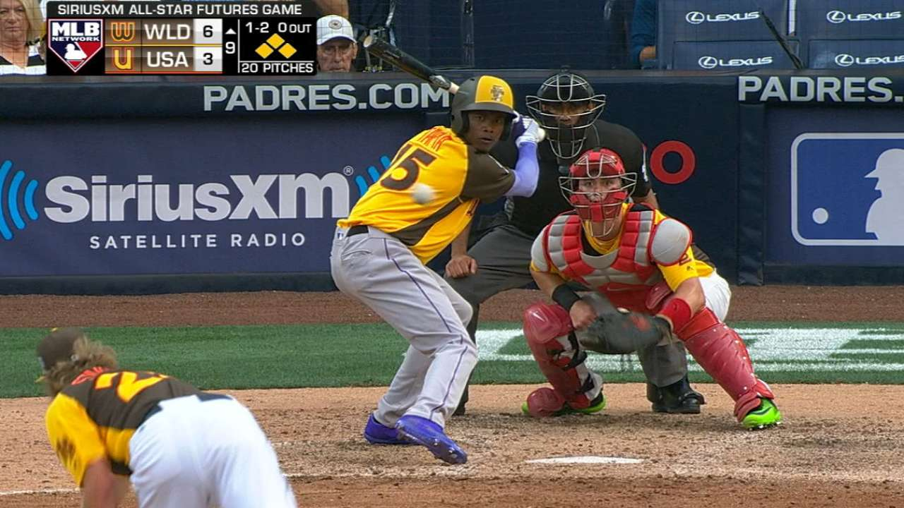 Tapia's two-run double