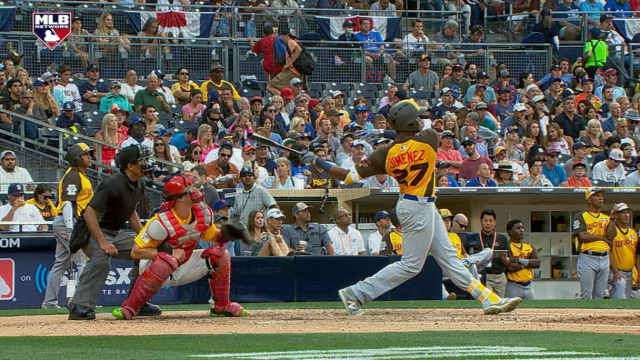 Jimenez's monster home run