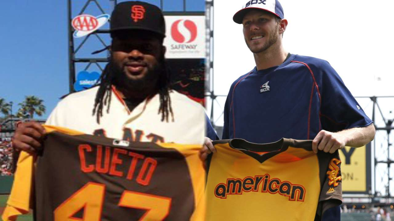 Cueto, Sale take mound first in ASG tonight