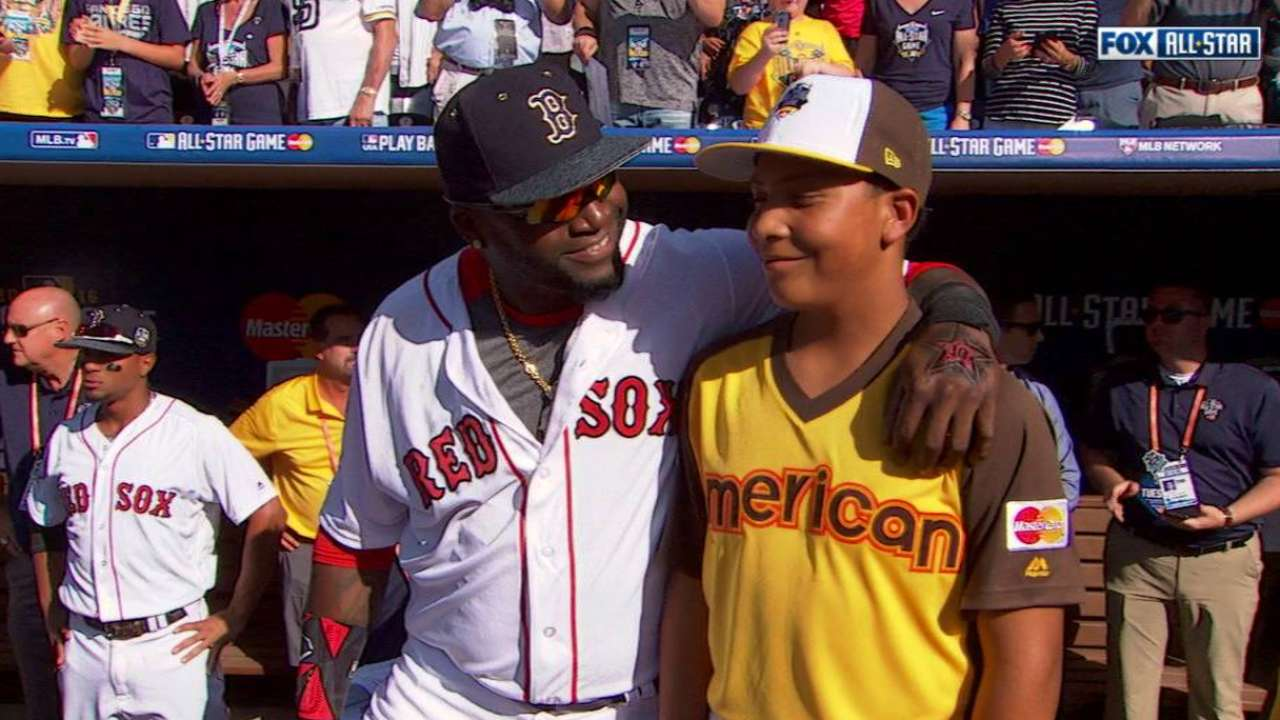 Big Papi introduced at ASG