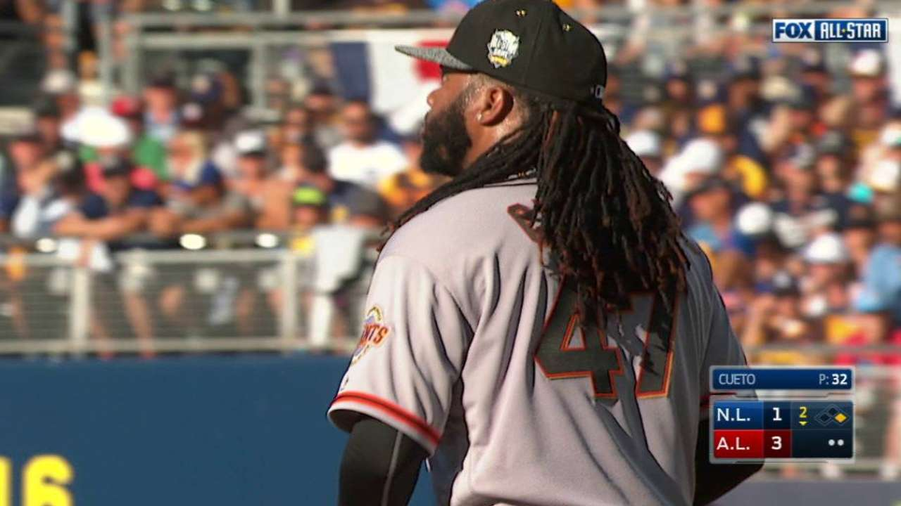 Homers hand Cueto All-Star Game loss