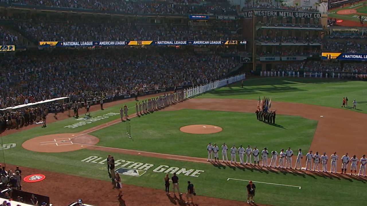 2016 ASG pregame introductions