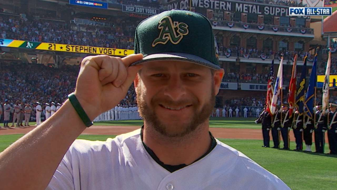 Vogt doesn't play, but relishes ASG experience