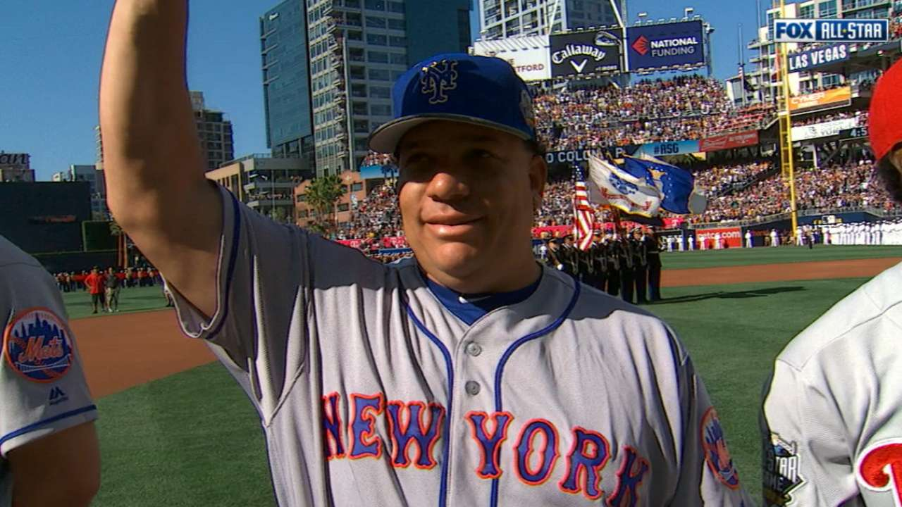 Mets introduced at All-Star Game