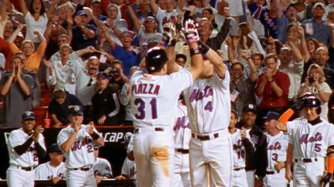 Piazza's post-9/11 homer: 15 years ago
