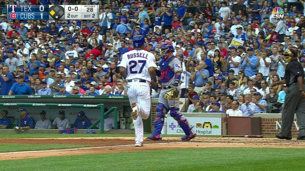 Baez's RBI single