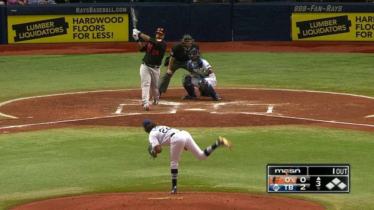 Schoop, Alvarez lead as O's edge Rays