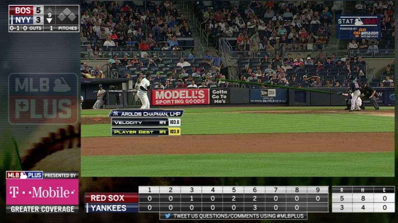 MLB Plus: Chapman's heater