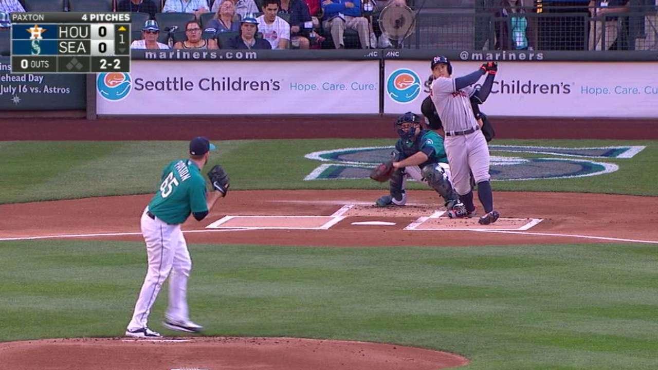 Springer's leadoff home run