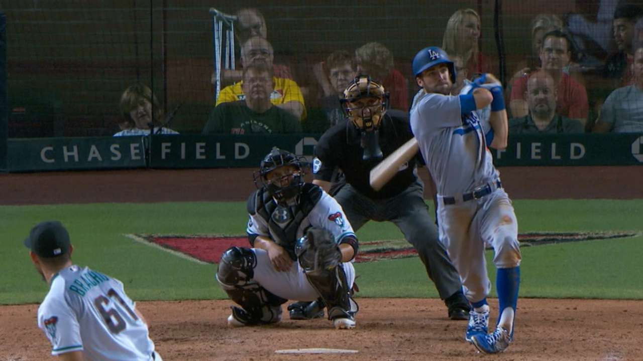 Taylor rips slam for 1st HR, nearly hits for cycle