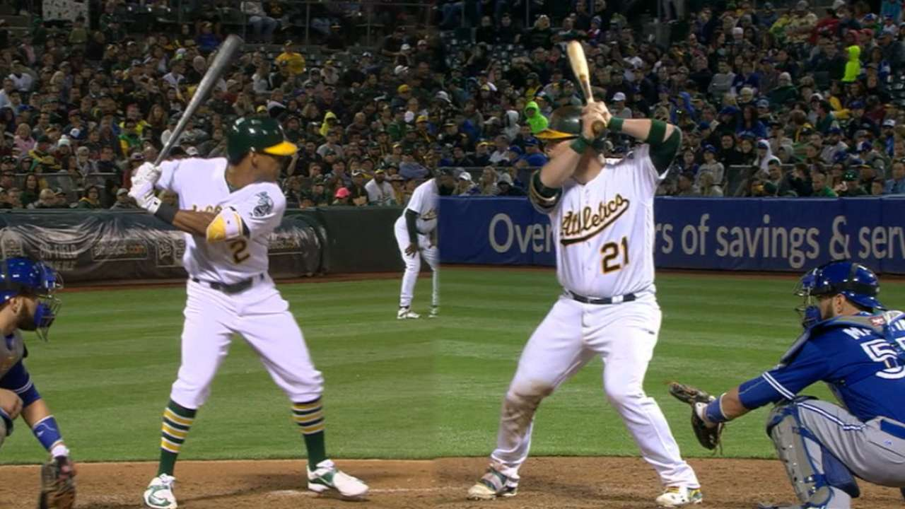 Vogt driving force for A's in comeback victory
