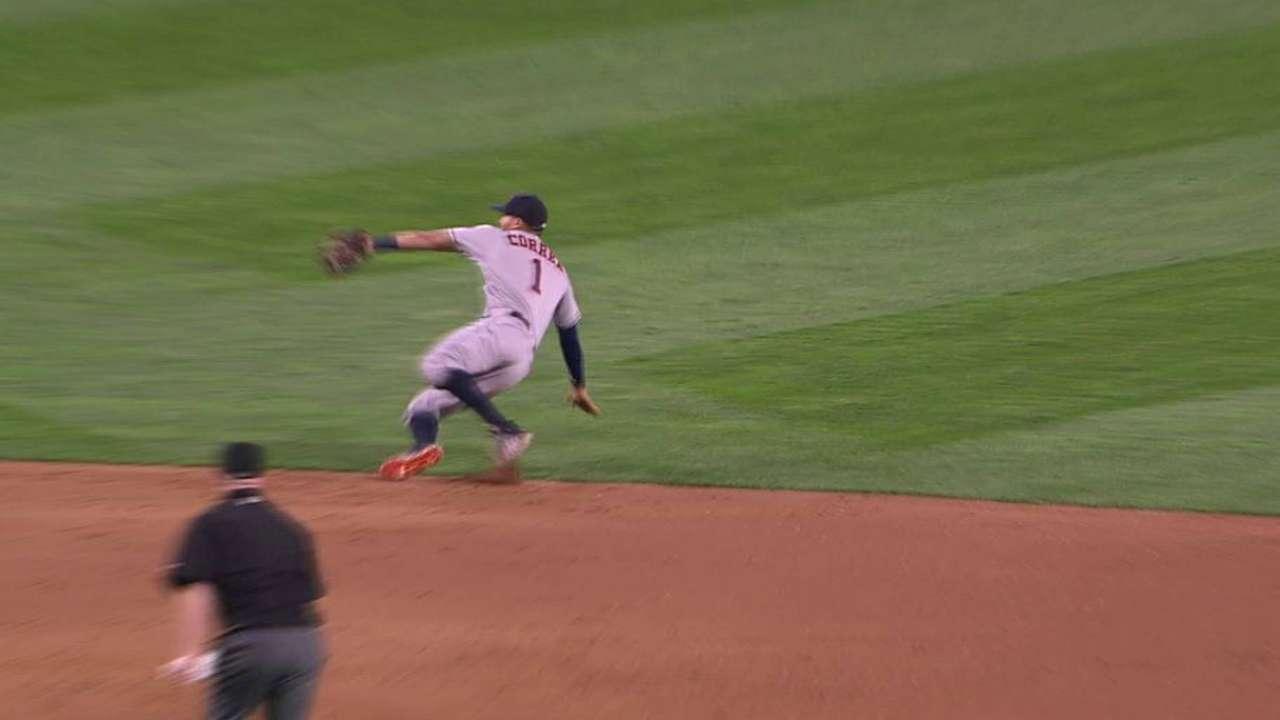 Correa's athletic stop