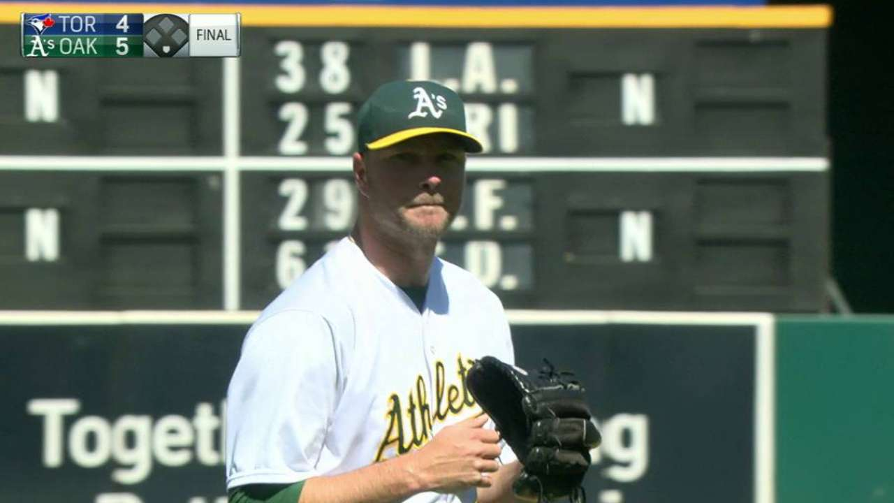 Madson shuts the door