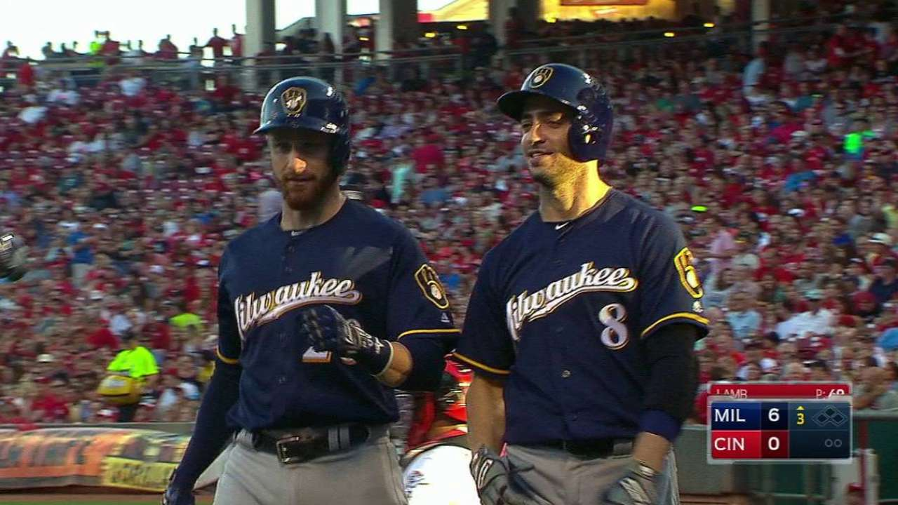 Lucroy homers after foul tip