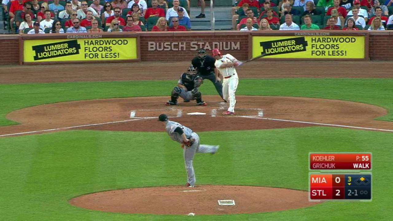 Grichuk's RBI double
