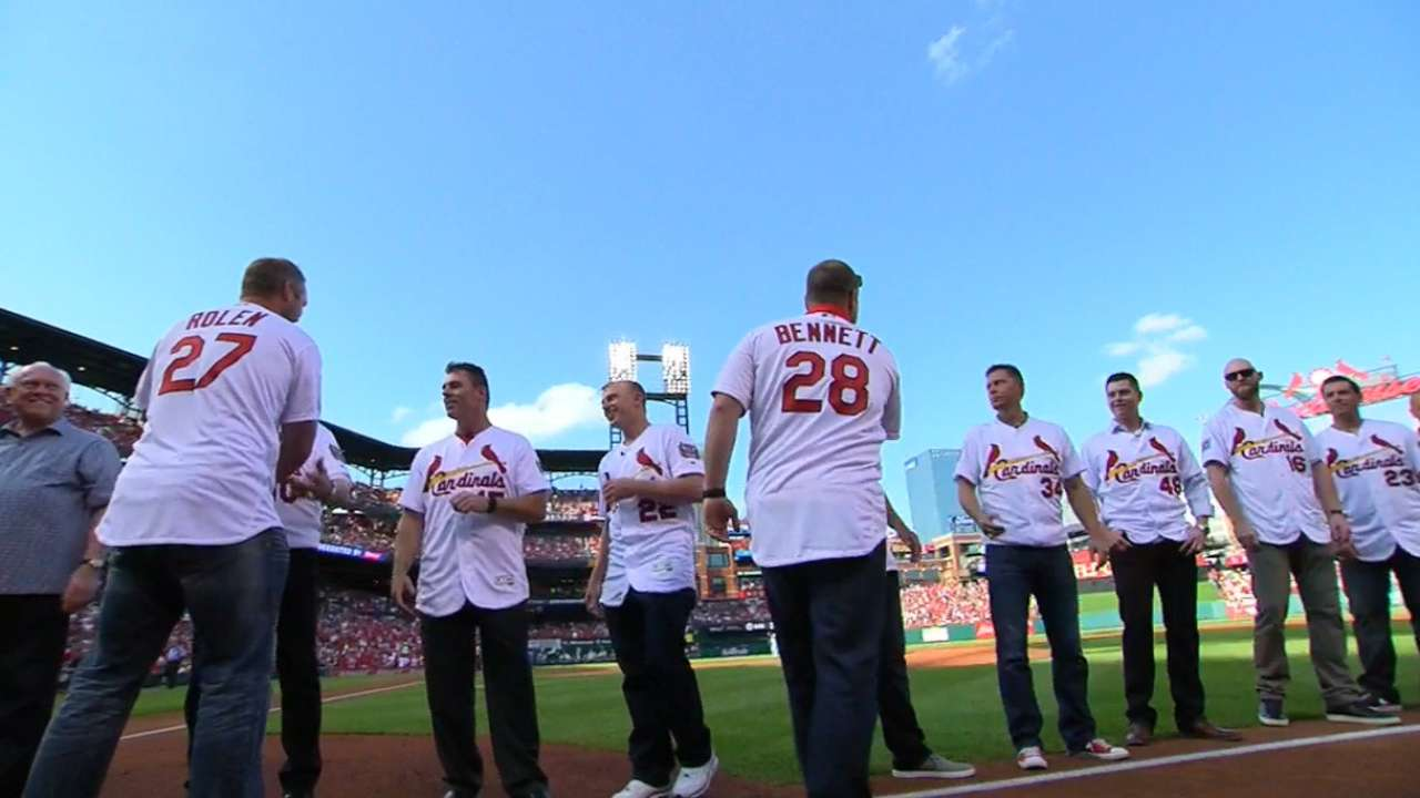Cardinals celebrate 2006 champs