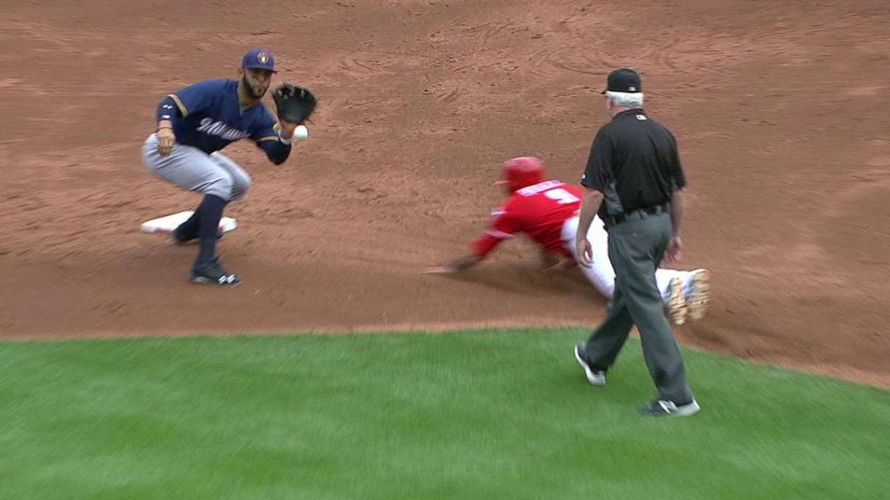 Lucroy nabs Peraza stealing