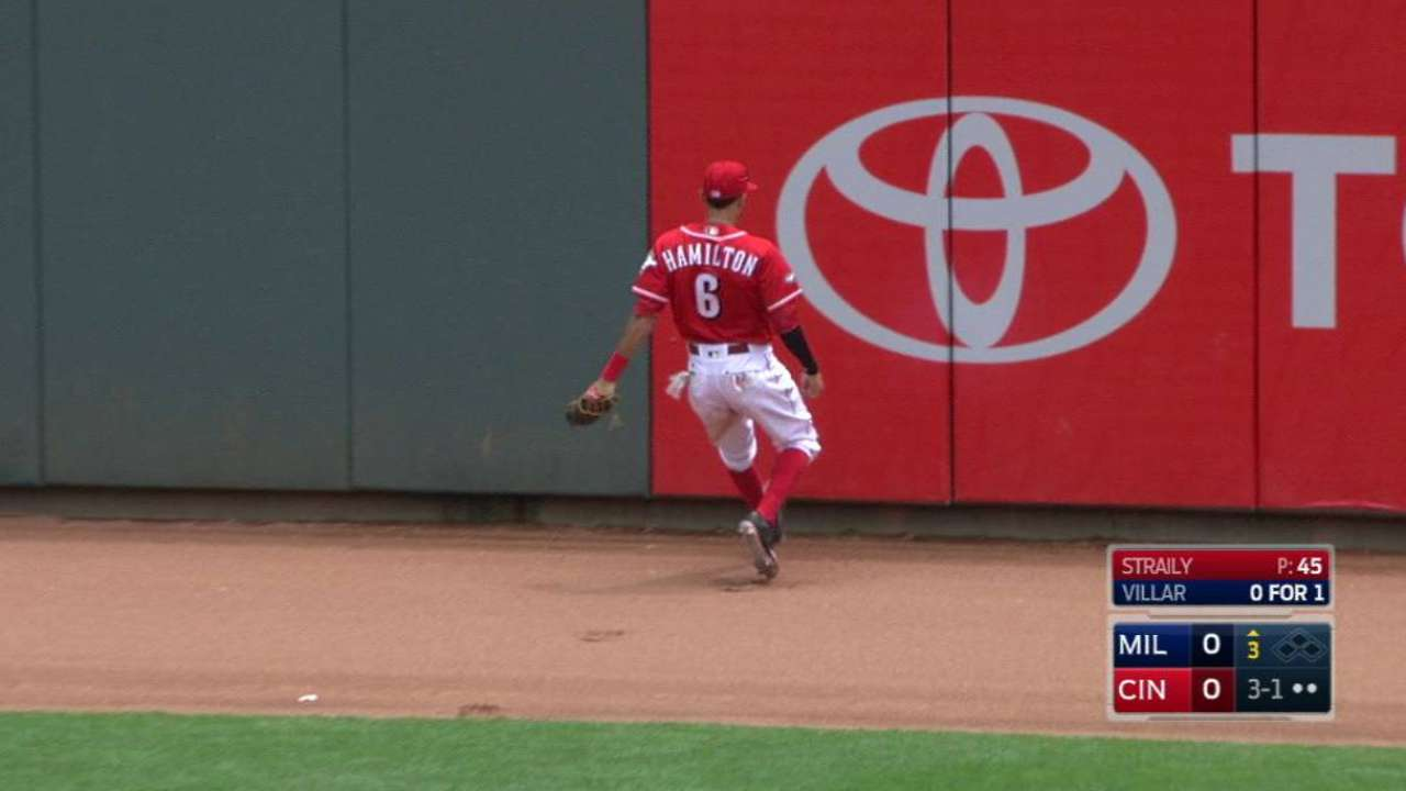 Hamilton's running catch